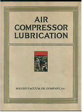 SOCONY VACUUM OIL COMPANY AIR COMPRESSOR LUBRICATION USA NEW YORK 1938