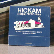 Vintage Matchbook E3 Honolulu Hawaii Hickam Air Force Exchange Credit Union Feat