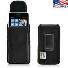 Turtleback Nokia Lumia 635 Vertical Leather Pouch Holster Case, Flush Belt Clip