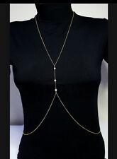 JT89 Crossover Harness Bikini Necklace Waist Belt Belly Sexy Body Chain Jewelry