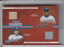 2005 ABSOLUTE #TQ47 DODGERS QUAD-RELIC HENDERSON & ISHII & GREEN & OLIVER 34/150