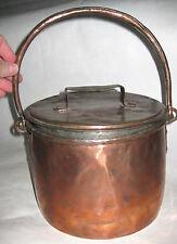 ANCIEN POT EN CUIVRE AVEC COUVERCLE OLD COPPER JAR Pote de cobre Topf in Kupfer