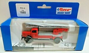 Roco 1689 H0 Mercedes DL 22 Ffw Büdelsdorf With Manual Extra Parts New Boxed