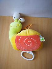 Doudou escargot Liboo musical jaune vert orange