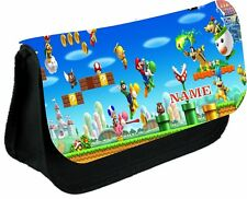 SUPER MARIO  #1 Personalised Pencil Case, make up bag, school any name