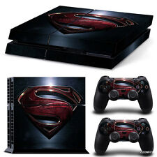 PS4 Playstation 4 Console Skin Decal Sticker Superman + 2 Console Skins Set