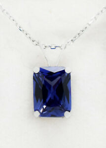 TANZANITE 1.62 Cts PENDANT 14K WHITE GOLD *** New With Tag ***FREE CHAIN**