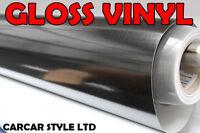 【Black Gloss】Vinyl Wrap Film Sticker 300mm x 1200mm for Furniture Car Signs