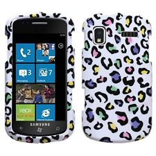 W. Rainbow Leopard Hard Case Cover Samsung Focus i917