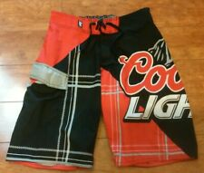 3a157726a8 Coors Light Swim Trunks Lite Beer Red Black Board Shorts Mens Size 30