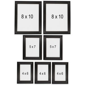 7pc Mainstays Picture Frame Set 3 Sizes For Standing Or Hanging And Wall Collage