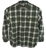 Carhartt Mens Plaid Heavyweight Cotton Flannel Shirt Original Fit Size 3XL
