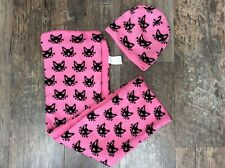Primark girls cat scarf and hat - pink - bnwt - 2-7 years