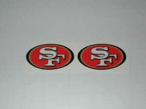 NFL SAN FRANCISCO 49ERS MINI SIZE FOOTBALL HELMET DECALS