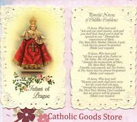 Infant of Prague w/ Powerful Novena of Childlike Confidence - Laced  Holy Card