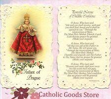 Infant of Prague w/ Powerful Novena of Childlike Confidence - Laced  Holy Card