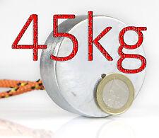 Neodym Magnet Metalldetektor Unterwassersuche Magnet 50x20mm 45 kg ZUGKRAFT