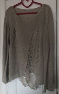 Rundholz Quirky Oatmeal Linen Jumper Size 'One Size' S M L, Small Medium Large
