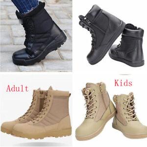 6944 Kids Adult Military Tactical Deploy Men Boot Men SWAT Boots Duty Work Shoes