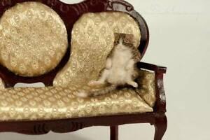 OOAK  Handmade ~ Tabby Cat ~ Miniature Dollhouse Sculpture