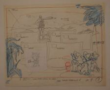 Vintage 70's Jolly Green Giant Sprout Original Production Drawing TV Commercial