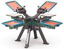 Vastex V-2000 Super Heavy Duty Screen Printing Press 4 Station/ 4 Color