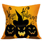 "Uk 18"" Halloween Pumpkin Witch Cartoon Cushion Cover Pillow Case Sofa Home Decor"