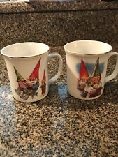 GNOMES MUGS FAMILY LIFE & GNOMELYWEDS  RIEN POURTVLIET COLLECTIBLE