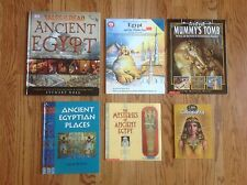 Lot of 6 ANCIENT EGYPT Children's History Books: Mummies, Cleopatra & More! NICE