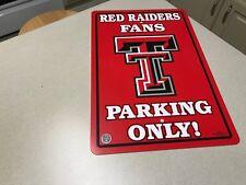 NCAA Texas Tech Red Raiders College Team Logo Parking Wall Sign