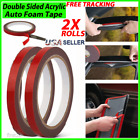 2X Auto Truck Car Acrylic Foam Double Sided Attachment Tape Adhesive 3m x 10mm <br/> Free Shippng* Perfect for exterior and interior trim