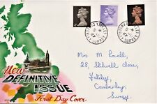GB 1967 TOVEY FIRST DAY COVER NEW DEFINITIVE ISSUE 4d SG731,1/- SG742,1/9 SG744.