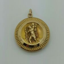 9ct Yellow Gold Saint Christopher Double Sided Pendant *No Chain