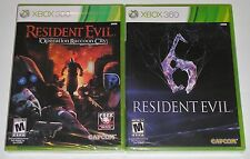 Xbox 360 Game Lot - Resident Evil 6 (New) RE: Operation Raccoon City (New)