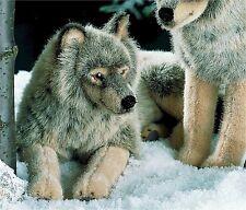 kösener 3850 - Loup Allongé 41 cm animal à câliner en Peluche