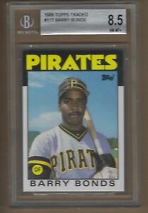 1986  TOPPS  TRADED  BARRY  BONDS  #  11T   BGS  8.5