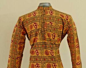 Indian/Pakistani Cotton Men's Kurta Yellow