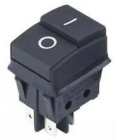 Einbau Gerätenschalter mit Gummidichtung, 2 polig (4pin) 16A 250~ Ein-Aus
