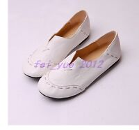 Womens Chic Flats Ballet Dress Moccasin Slip On Faux Leather Casual Loafers Shoe