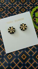NWT! Tory burch stud earrings (black and gold)