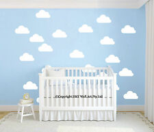 50Pcs Mini Clouds Wall Stickers Removable Vinyl Decal Kids Nursery Decor Art