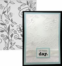 COUTURE CREATIONS Embossing Folders ONE WORLD embossing folder Flowers,butterfly