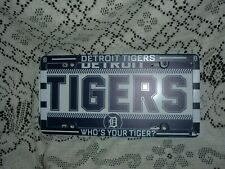 "DETROIT TIGERS PLASTIC LICENSE PLATE AND FRAME DEAL 6"" X 12""  NEW"