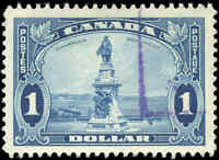 Used Canada $1.00 F-VF 1935 Scott #227 King George V Pictorial Stamp