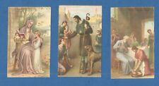 LOT DE 3 IMAGES PIEUSES HOLY CARD  SAINTE ANNE  SAINT ROCH THFR