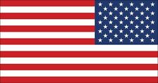 3x5.7 inch Official Size Reverse American Flag Sticker - Usa Us america mirror