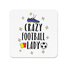 Crazy Football Lady Fridge Magnet - Funny Soccer