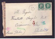 Busta Francia per Italia 4 fr. 2x 2 Maresciallo Petain 1943 WE807