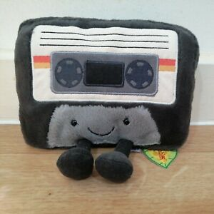 New Jellycat Amuseable Cassette Tape Plush Cuddly Toy Cute 90s Retro BNWT Tagged