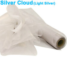 Organza Roll Silver Cloud Wedding Chair Covers Sash Decorations